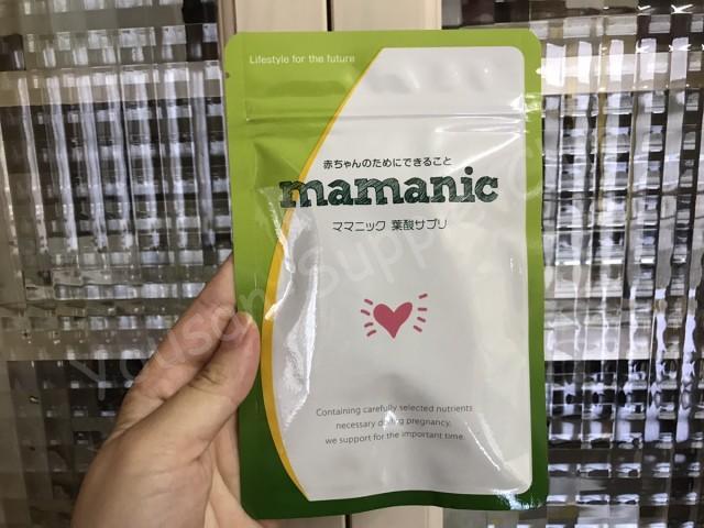 ママニック葉酸サプリパッケージ表